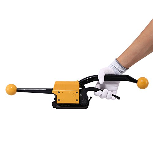 (BestEquip Steel Strapping A333 Manual Sealless Combination Tool Steel Belt Packing Machine for 1/2Inch to 3/4Inch Steel Straps Banding )