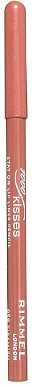 Rimmel London 1000 Kisses Lip Liner, Tiramisu 1 ea (Pack of 6)