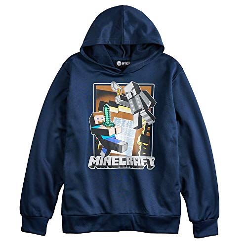 Minecraft Big Boys Pullover Hoodie Large (14-16)