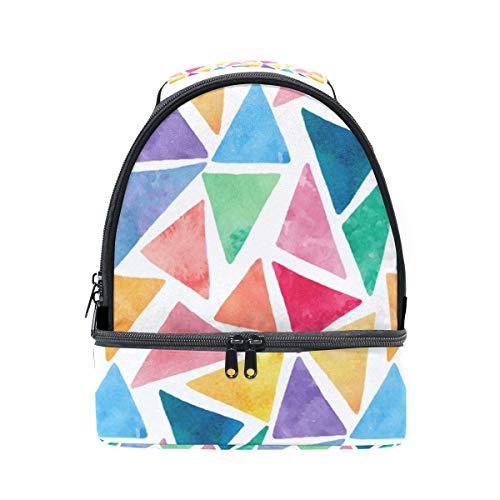 hombro almuerzo la impresión para pincnic triangular geométrica Bolsa de de FOLPPLY aislante con de correa con ajustable escuela qPwWfExpB