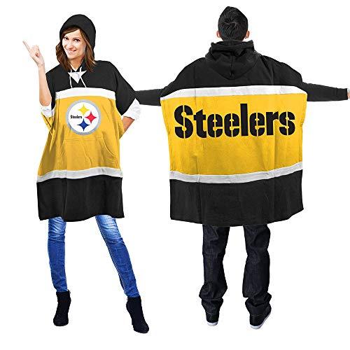 NFL Pittsburgh Steelers Hoodie Poncho (Pittsburgh Steelers Rain)