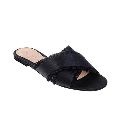 sandali SHINIK Uniti femminili da Scarpe scarpe Croce con Stati basse Europa nappe con donna Sandali donna e Black da w1Rqwg