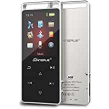 MP3 Music Player with Bluetooth 4.0, 2018 Upgraded Dansrue Portable Digital Music Audio Player with FM Radio, 60 Hours Playback Time, Metal Shell Touch button (Expandable Up to 128GB)