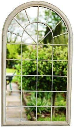 Mirror Espejos retrovisores de Ventanas Creativas Europeas Jardín Decoración de Pared Exterior rústico Vintage Espejo H0712: Amazon.es: Hogar