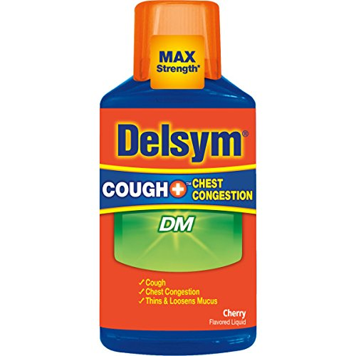 Delsym Adult Cough Plus Chest Congestion DM Liquid, Cherry Flavor, 6 oz (Pack of 9) by Delsym