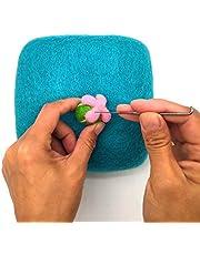 "Artec360 100% Woolen Needle Fetling Mat Eco-Friendly Natural Wool Needle Felting Foam Mat 6""x6""x2"" (1pc Blue)"