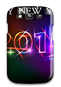 New Happy New Year Tpu Case Cover, Anti-scratch XZfXfPJ471VqZYV Phone Case For Galaxy S3