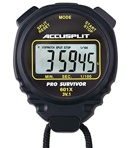 - ACCUSPLIT Pro Survivor A601X Stopwatch, Black