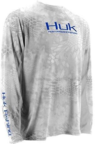 HUK H1200023YT1L Huk Kryptek Icon Long Sleeve Shirt, Yeti/Royal, Large