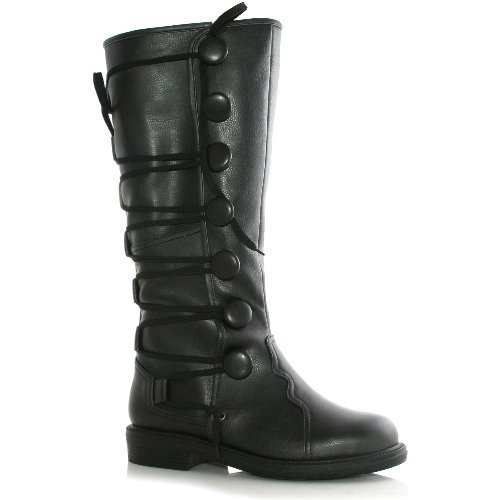 Men's 1 Inch Renaissance Inspired Boot (Black;Large) (Adult Renaissance Boots)