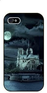 iPhone 5 / 5s Notre Dame night - black plastic case / Paris, France