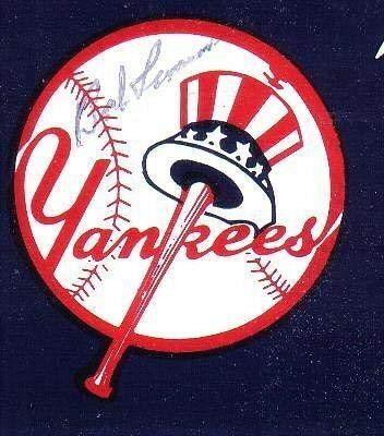 Bob Lemon Signed Yankees Bumper Sticker Autographed - JSA Certified - MLB Autographed Miscellaneous Items