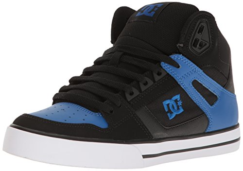 DC Men's Spartan HI WC Skateboarding Shoe, Black/Blue/White, 7 D US