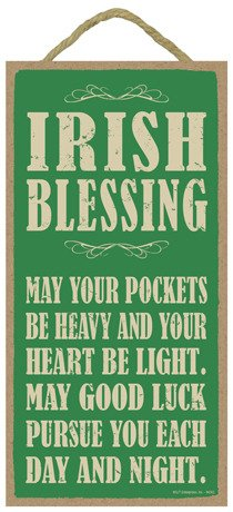 Gold Coin Plaque ((SJT94242) Irish Blessing: May your pockets be heavy and your heart be light… 5