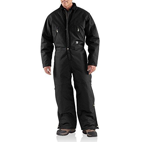 Carhartt Men's Arctic Quilt Lined Yukon Coveralls,Black
