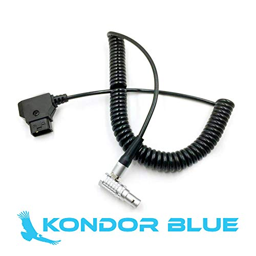 (KONDOR BLUE D-TAP to LEMO 2 Pin 0B Male Coiled Power Cable Teradek Bolt ARRI RED Paralinx Preston Cinegears Switronix Came TV Ghost Eye Wireless)