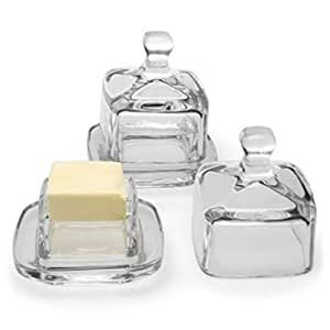Butter Dish - Square Glass W/cover, Garden, Lawn, Maintenance