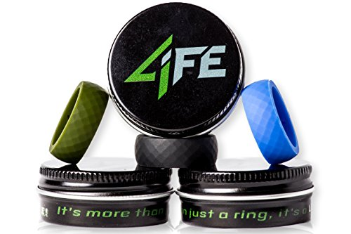 High Quality Silicone Wedding Ring, Highest Rated Flexible Band for Active Lifestyle! No-Hassle Warranty 4LIFE! Safe Replacement Mens Jewelry for Athlete, Outdoorsman, and All Hard Working Professionals. The Rugged and Durable Diamondback Edition!