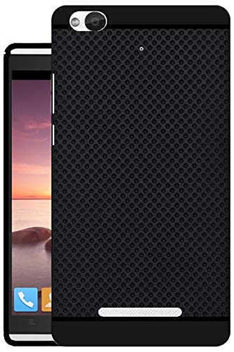 timeless design 17bf7 9fe0a Hello Zone Exclusive Premium Quality Dotted Matte Finish Soft Rubberised  Back Case Cover for Gionee Gpad G4 - Black