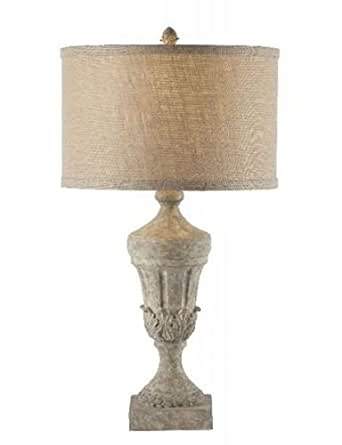 Aidan Gray Distressed Finished Fluted Urn Table Lamp