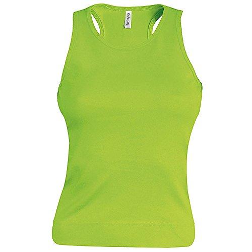 Kariban- Camiseta de tirantes para chica/mujer Amarillo