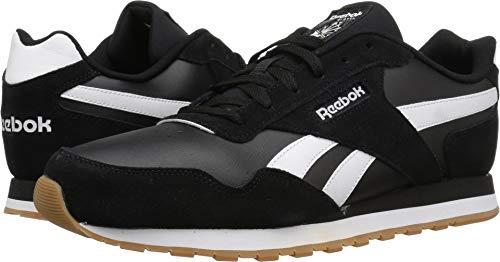 Reebok Men's Classic Harman Run Sneaker,black/white/gum, 8 M US