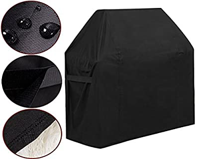 GoProver BBQ Gas Grill Cover, 44inch X 60inch 600D Heavy Duty BBQ Gas Grill Cover for Genesis E and S Series Gas Grills Outdoor Barbeque Grill Covers Waterproof & Weather Resistant