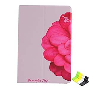 Phone Holder and Flower Pattern PU Leather Case with Stand for iPad mini 1/2/3