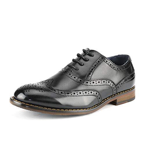 Bruno Marc Little Kid Prince_K_2 Black Boy's Classic Oxfords Dress Shoes Size 1 M US Little Kid