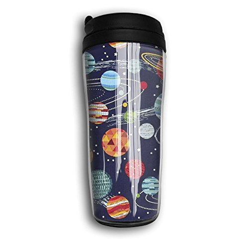 Galaxy Planets Space Solar System Stylish Classic Coffee Cute Travel Flask Cup Mugs by Unknown