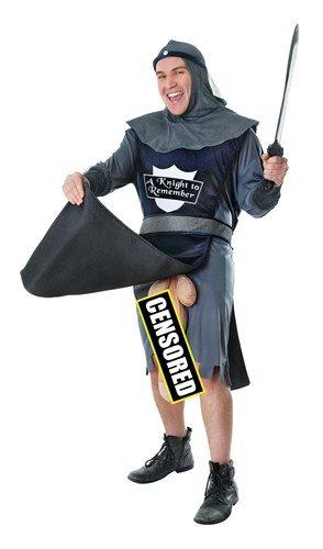 [Knight To Remember Male Bucks Fancy Dress Costume - Medium] (Adult Knight To Remember Costumes)