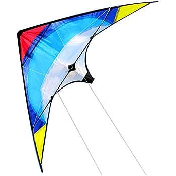 NEW Large Black Shark Kite Stunt Sport Beach Outdoor Fun Toy Kite w// a Wire Loop