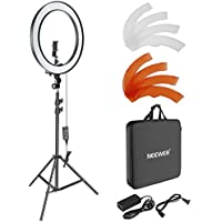 Neewer 18-inch Outer Dimmable SMD LED Ring Light Lighting Kit with 78.7-inch Light Stand, Rotatable Phone Holder, Hot Shoe Adapter, Filters and Carrying Bag for Selfie Portrait YouTube Video Shooting