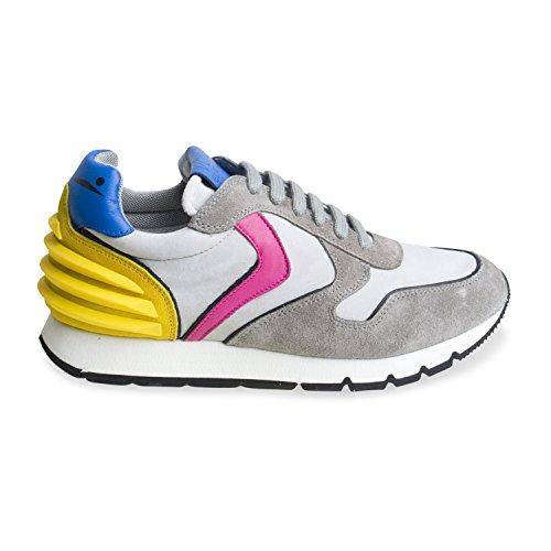 """Sneaker für Damen """"JULIA POWER VELOUR/SCUBA DECOLORATO"""" - von Voile Blanche - Farbe Grigio"""