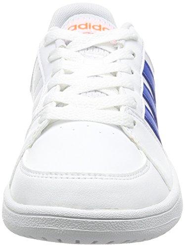 adidas VS HOOPS K - Zapatillas deportivas para niños, Blanco - (FTWBLA/AZUL/NEGBAS), -33