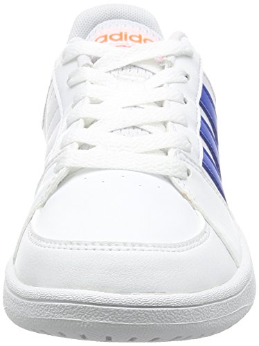 Adidas VS Hoops K–Chaussures deportivaspara enfants, Blanc–(Ftwbla/bleu/negbas), -4