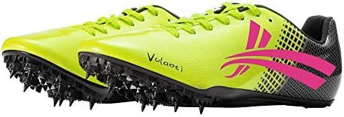 AIALTS Zapatillas con Clavos De Atletismo para Hombres, Zapatillas Deportivas para Correr Sprint De Salto Largo para Jóvenes, Zapatos De Deporte De Uñas De Campo Traviesa,Amarillo,42.5EU: Amazon.es: Hogar