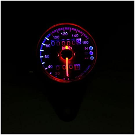 Motorrad Kilometerzaehler Tachometer Sodial R Motorrad Dual Kilometerzaehler Tachometer Messgeraet Led Hintergrundbeleuchtung Kmh 12v Schwarz Auto