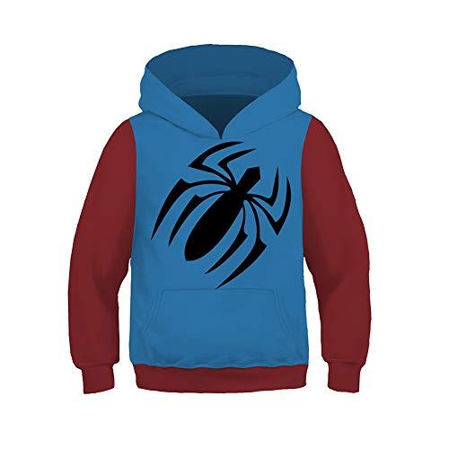 Spiderman Hoodie Kids,Unisex Superhero 3D Hoodies Pullover with Pocket 6-13Y
