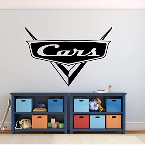 (Custom Name Cars Decal - Personalized Emblem Wall Decal for Man Cave or Garage - Removable Vinyl Wall Decoration for Boy's or Girls Bedroom, Playroom, Gameroom or Office)
