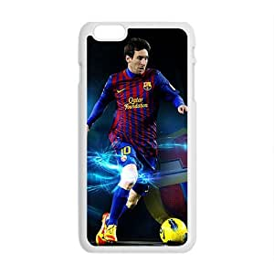 Happy Soccer Celebrity Lionel Messi White Phone Case for Iphone6 plus