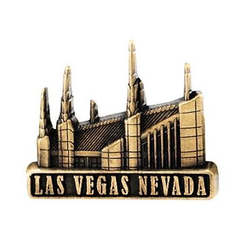 LDS Mens Las Vegas Nevada Temple Gold Steel Tie Tac / Tie Pin for Boys