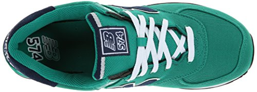 888546365933 - New Balance Men's ML574 Pique Polo Pack Classic Running Shoe, Green, 7 D US carousel main 7