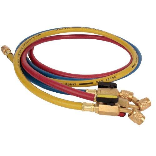 Refrigerant hoses, 150cm, 3 pack, 1/4' Ball Valve Fittings 1/4 Ball Valve Fittings Hvacstore