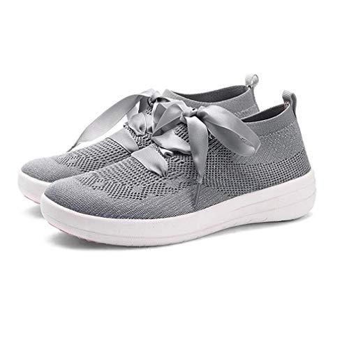 Da Junkai Ginnastica Mesh In Per Sportive Grigio Leggere Donna Sneakers Stringate Corsa Donna Scarpe g1qpIa