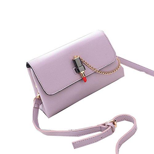 Yy.f Nueva Pequeña Dama Elegante Bolsas De Hombro Mini Mensajero Bolsa De Afluencia De Las Mujeres 3 Colores Bolsas De Manera Extrínseca Pink