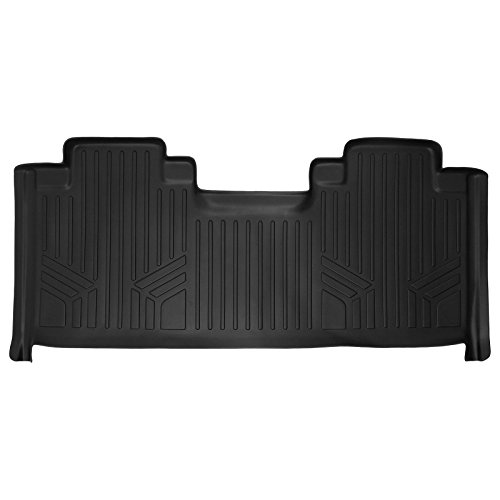 First Row Seats - SMARTLINER Floor Mats 2nd Row Liner Black for 2015-2018 Ford F-150 SuperCab With 1st Row Bucket Seats