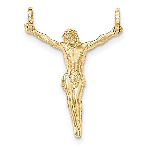 CKL International 14k Yellow Gold Corpus Crucified Christ Pendant Charm Corpus Crucified Christ Pendant