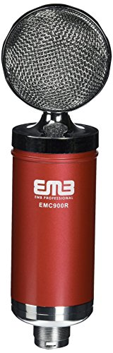 (EMB EMC900 Professional High-Performance Multi-Pattern Large Diaphragm Condenser Project Studio Microphone RED)