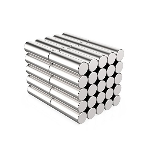 Round Cylinder Stainless Steel Magnets for Refrigerator, Arts & Crafts Projects, Whiteboard, Map 3x10mm 50pcs by VERY100